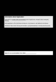 Applicationform Egelunden