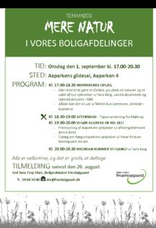 Invitation til temamøde den 1. september