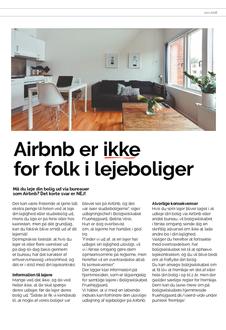 Airbnb ikke tilladt